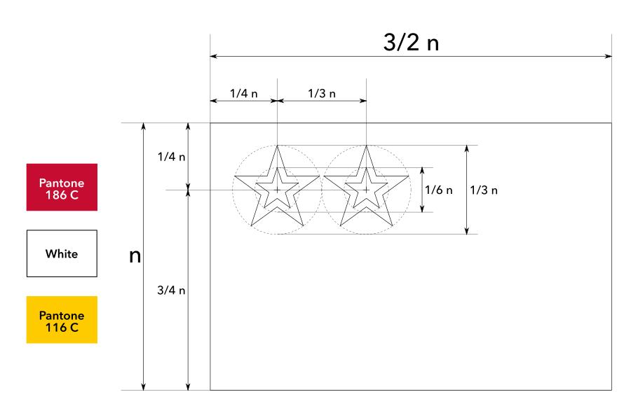Construction sheet of the proposed flag of the Union State / Строительный лист предлагаемого флага Союзного государства