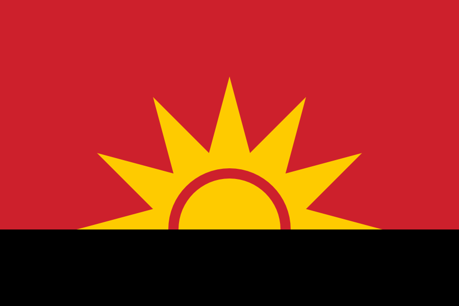 Proposed flag of Angola I made in 2009.