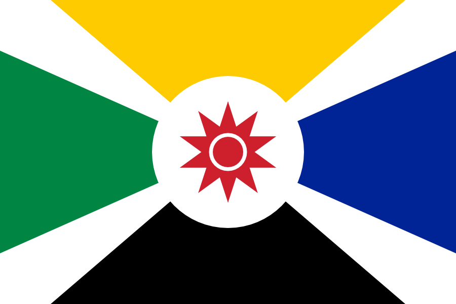 Proposed flag of Mozambique I made in 2009.
