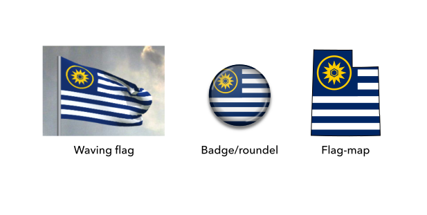 Mock-ups of the proposed flag of Utah