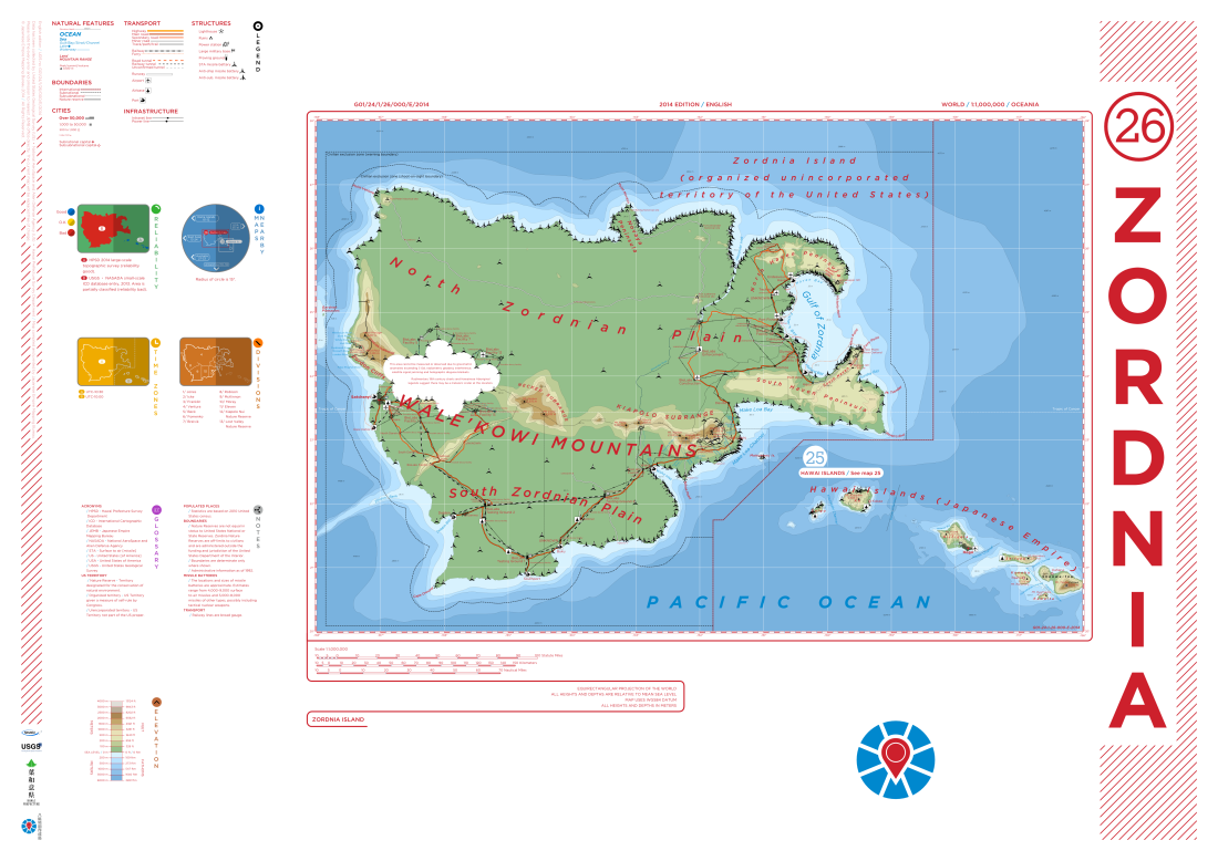Map of the fictional Zordnia island made for Vexacus.
