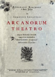 Frontispiece of Arcanorum Theatro. Click on image for full size.