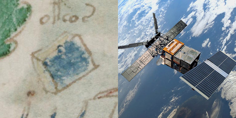Figure 17. Left: Unknown cube on f102v2. Right: ERS-1 satellite.
