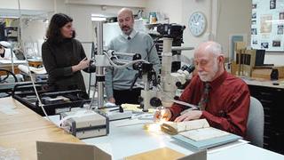 Figure 30. René Zandbergen in the lab with Dr. Joe Barabe.