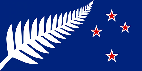 Silver Fern Flag – Kyle Lockwood's 'Blue Design'. Designed by: Kyle Lockwood.
