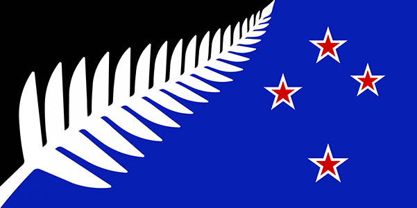 Silver Fern Flag – Kyle Lockwood's 'New Zealand Colours' Designed by: Kyle Lockwood