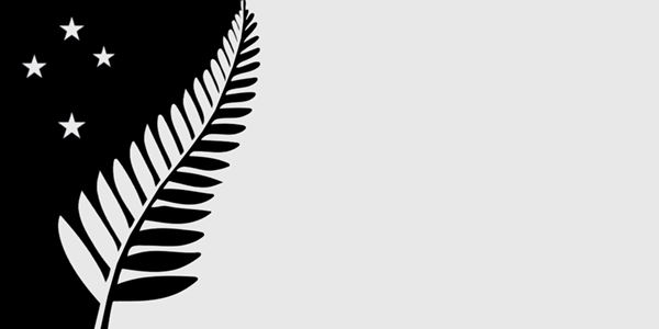 The Silver Fern Flag. Designed by: Chris Jackson.