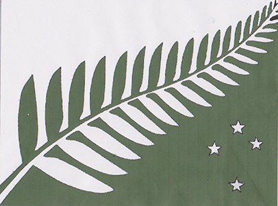 Silver Fern on our Green Country. Designed by: Patte Williams.