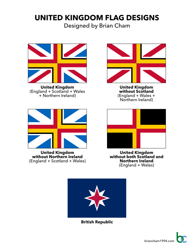 Proposed flags of the United Kingdom by Brian Cham