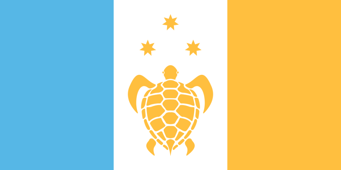 Proposed flag of Fiji by Brian Cham, James Fitzmaurice and Rachael Radhika-Hart.