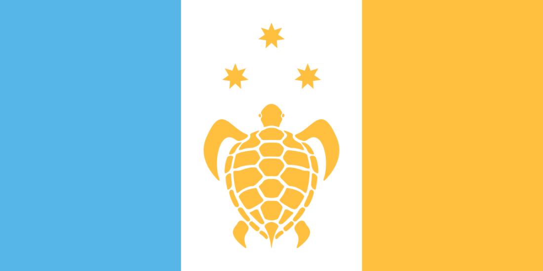 Proposed flag of Fiji by Brian Cham, James Fitzmaurice and Rachael Radhika-Hart.