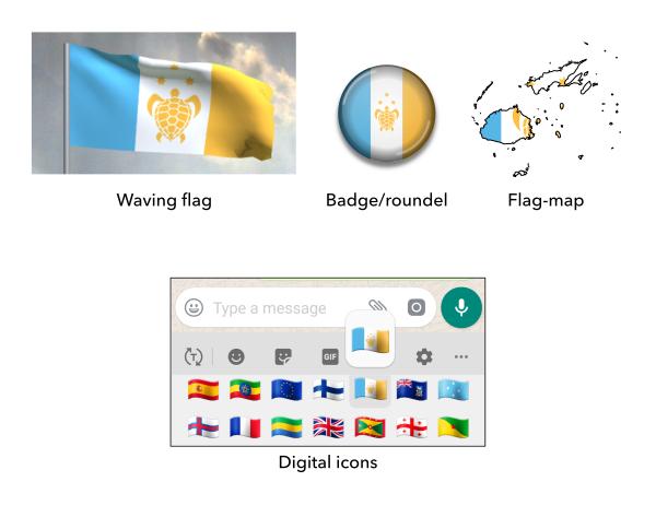 Proposed flag of Fiji mock-ups