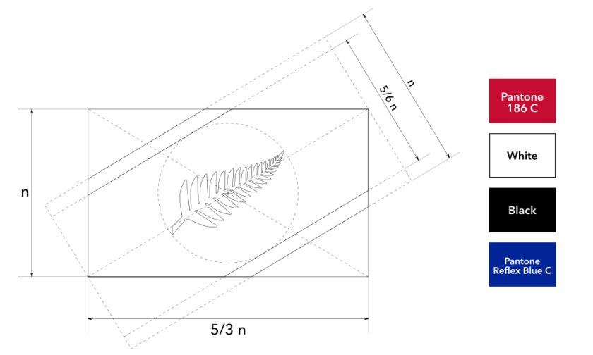Construction sheet for Silver Fern Diagonal
