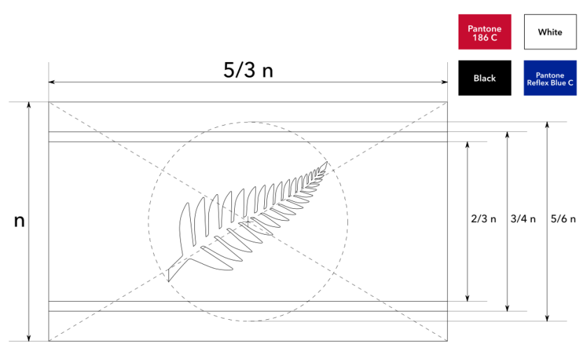 Construction sheet for Silver Fern Horizontal