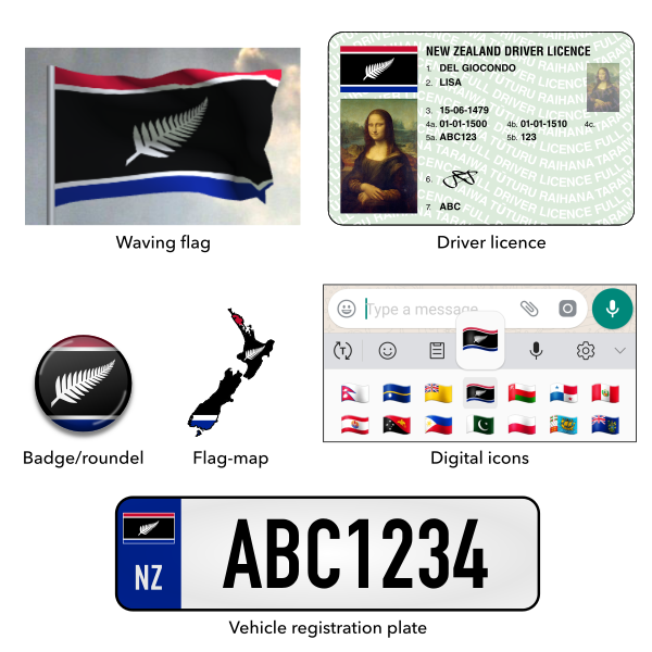 Mock-ups for Silver Fern Horizontal