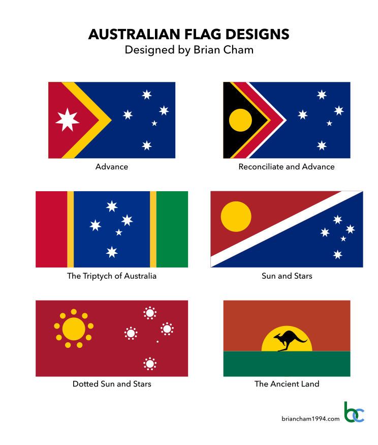 Proposed flags of Australia by Brian Cham.