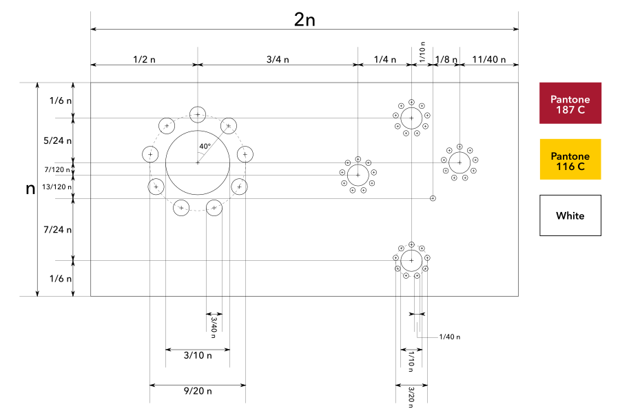 Construction sheet for Dotted Sun and Stars
